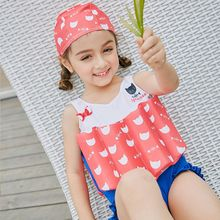 SABOLAY 2-8 Years Girls Funny Cartoon Buoyant Swimsuit Baby Girl Child Bodysuit Floating Swimwear Kids One-piece Swimsuits Vest sabolay 2 8 years old baby buoyant swimwear floating girls quick drying one piece vest buoyancy swimsuit float kids swimming