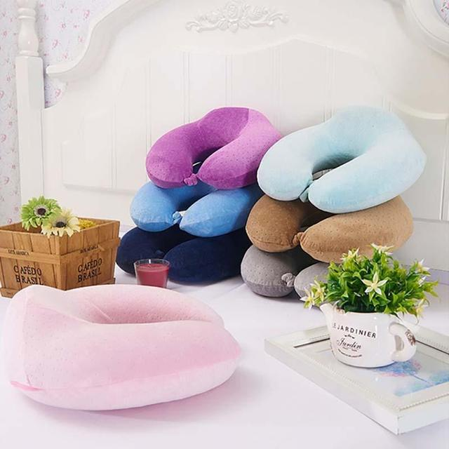 Linho Linho Bebê Em Forma de U Travesseiro Pescoço Travesseiro de Saúde Cervical Siesta Travesseiro Memória Pressão Presente Reduzir Cervical U 4