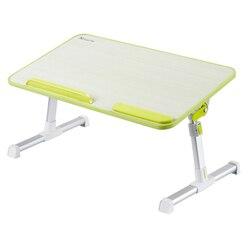 Składane podnoszenia stolik na laptopa regulowane biurko komputerowe studentów dormitorium studia stół wielofunkcyjny łóżko biurko dla Notebook w Biurka na laptopy od Meble na