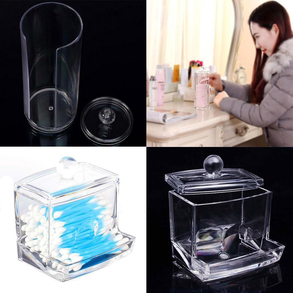 Acrylic Swab Organizer Box Portable Round Container Case with Clear Makeup  Tool Swab Q tip Box Makeup Tool Kit-in Makeup Tool Kits from Beauty &  Health on ...