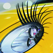 1 Pair Charming Black False Eyelashes Car Stickers and Decals Headlight Decoration Car Styling Automobile 3D Eye Lash Sticker