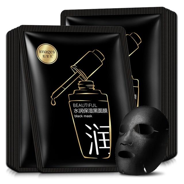 beauty moisturizing SHEET black FACE mask mascara facial acne black facial mask Acne Treatment Oil-control korean 3
