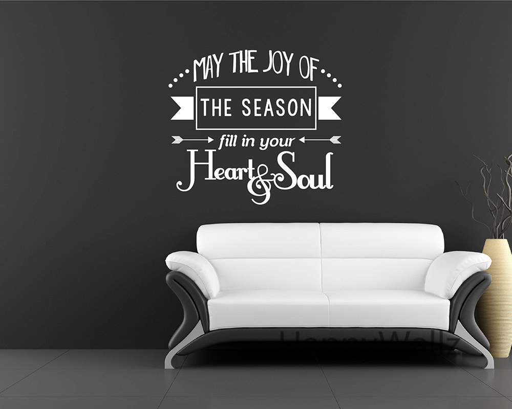 love quote wall sticker may the joy of the season fill in your heart