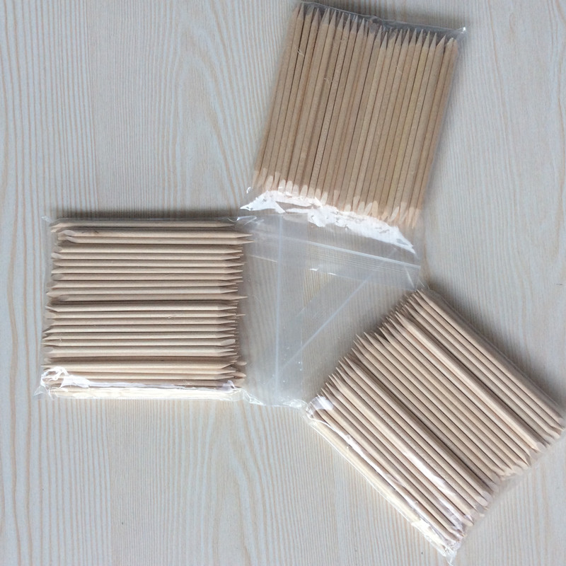 Nail Brush 20/50/100pcs/set Nail Art Orange Wood Stick For Nail Art Decorations Cuticle Pusher Remover Pedicure Manicure Tool