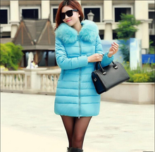 Европа 2016 Зима Новый Женской Моде Пальто Супер Теплый Хлопок вниз куртка Толщиной С Капюшоном Отдыха Большой ярдов Тонкий Женщины Пальто G0361