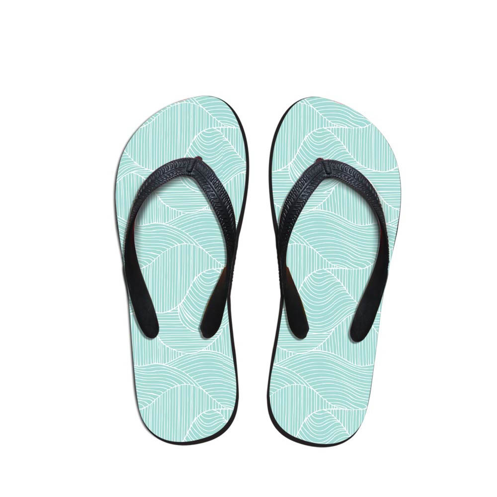 Simple Design Men's Flip Flops Beach Shoes Outside Sandals Teen Boys Triangle Fit Flops Slippers Geometric Pattern