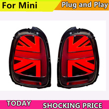 Car Styling LED Tail Lamp for BMW F55 F56 F57 Tail Lights 2013-now for MINI Rear Light DRL+Turn Signal+Brake+Reverse LED lights все цены