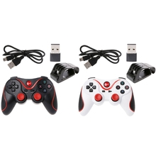 OCDAY T3 Wireless Bluetooth 3.0 Gamepad Game Joystick Controller With USB Receiver Phone Holder Bracket For Smartphone Table