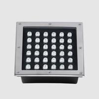 2pc 36w LED Square Underground Light Recessed Led Floor Lights Waterproof Ip65 Ac85 265v Dc12v Terraza Tuinverlichting