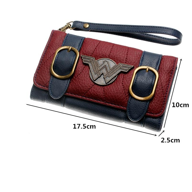 Mulheres-carteira-fivela-dupla-tri-fold-flap-bolsa-Azul-vermelho-Bordeaux-bordado-emblema-do-Metal-carteira (2)