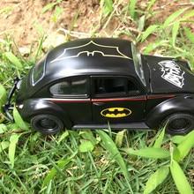 Car Beetle Classic Alloy Diecast Autó Modell Toy Aranyos Mini 1:36 Toy Cartoon Pull Back autó Jármű Bat man Diecasts és Toy