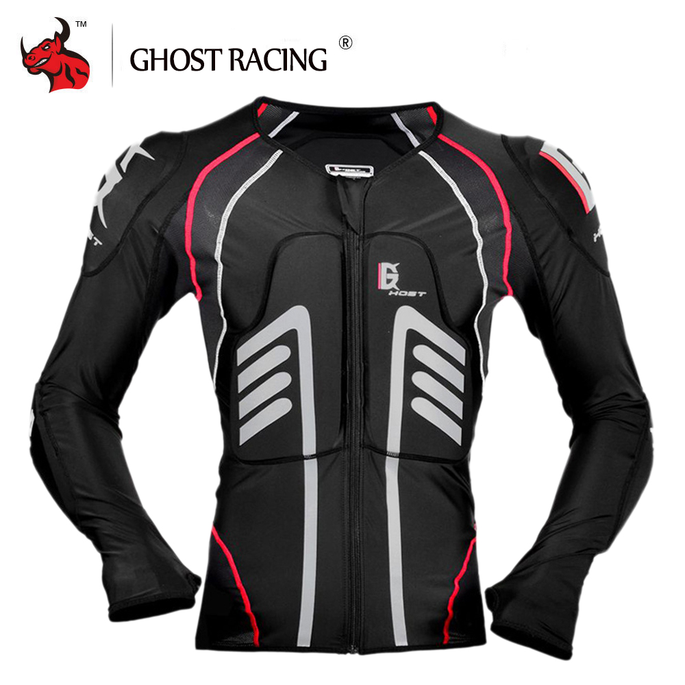 GHOST RACING Motorcycle Jacket Protective Gear Summer Motocross Protection Jacket Moto Racing Body Armor Men Moto Armor Black
