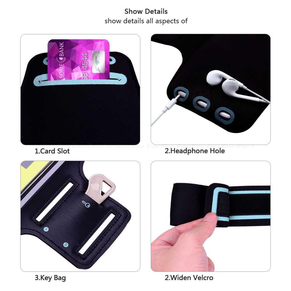 تشغيل حقيبة رياضية غطاء الذراع الفرقة الهاتف حقيبة لهاتف سامسونج غالاكسي J2 برو J4 J6 J8 M30 M20 M10 A7 A5 A3 A8 A6 زائد A9 2017 2018