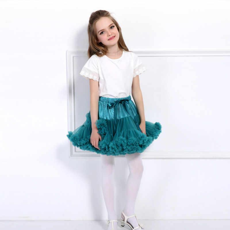 Drop shipping Baby Girls tutú falda mullida niños Ballet niños Pettiskirt faldas para bebé o niña princesa Tulle Party Dance faldas