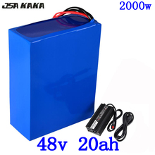 цена на 48V 1000W 2000W battery 48V 20AH Electric Bike Battery 48V 20AH E-bike Battery 48 Volt Lithium Battery with 50A BMS+5A Charger