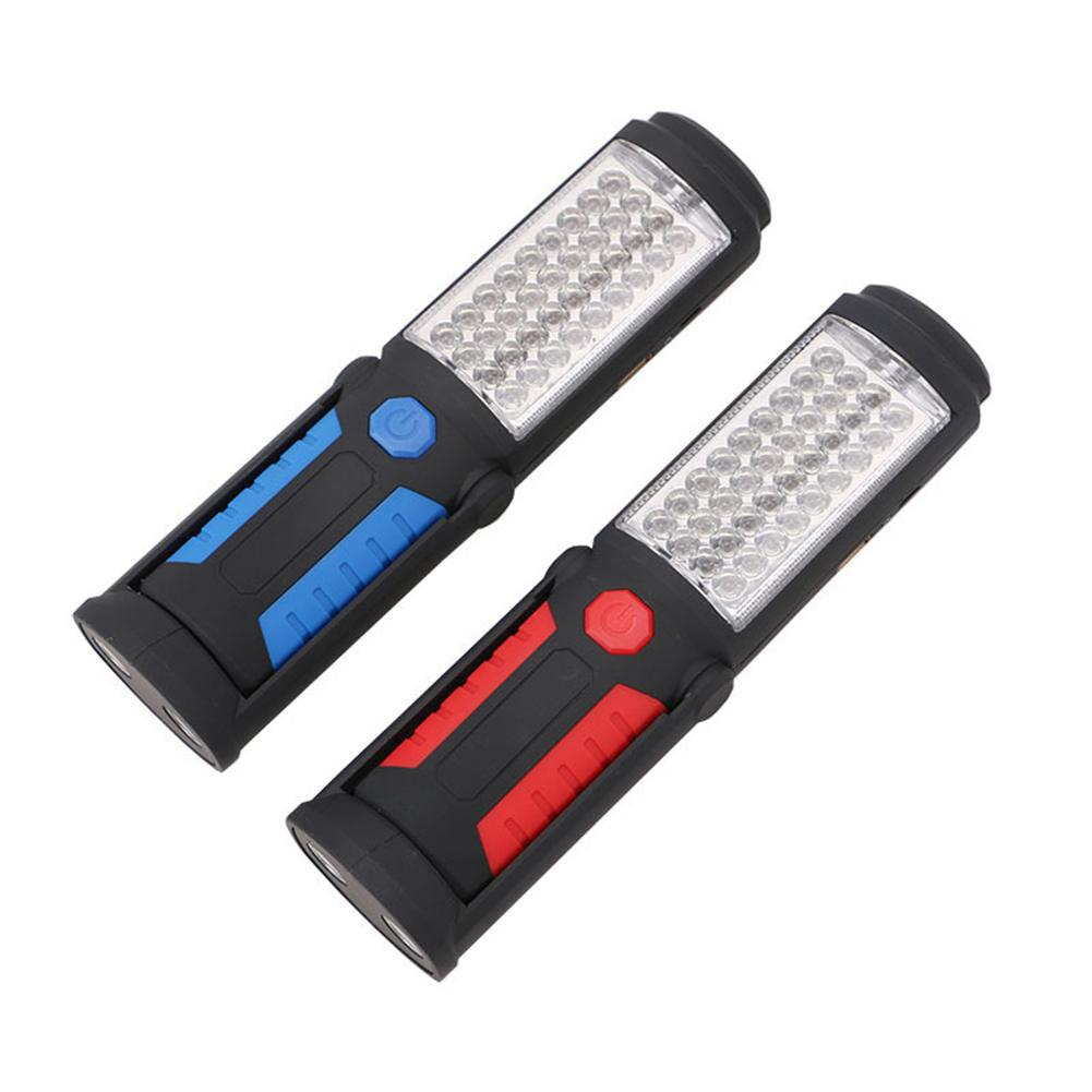 41LEDs Magnetic Torch Rechargeable USB LED Flashlight Work Light Lamp Stand Swivel Hook For Camping Workshop Car Repair S3