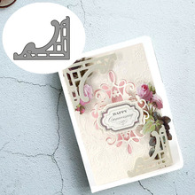 Square broder Carbon steel Cutting Dies Stencil Craft for DIY Creative Scrapbook Cut Stamps Dies Embossing Paper Birthday Card