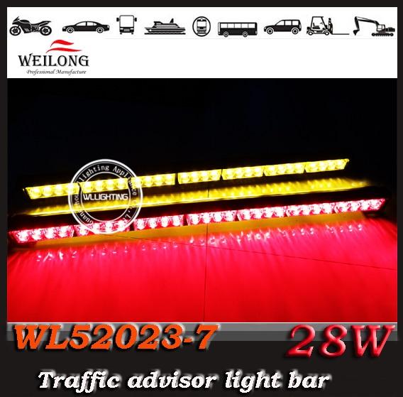 ФОТО   4*7/ 28 LED double bar Car Roof Emergency Traffic Advisor Strobe Beacon LightBar Warning Lights