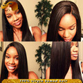 Best Light Yaki Full Lace Wig With Baby Hair Virgin Brazilian Straight Silk Base Lace Front Human Hair Wigs For Black Women