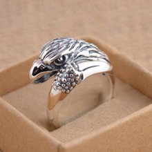 Thailand 100% Real 925 Sterling Silver Ring with hawk  Jewelry for  Jewelry Vintage  Rings