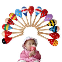 Subcluster 10 Pcs/Set Cute Baby Kids Sound Music Gift Toddler Rattle Musical Wooden Colorful Toys