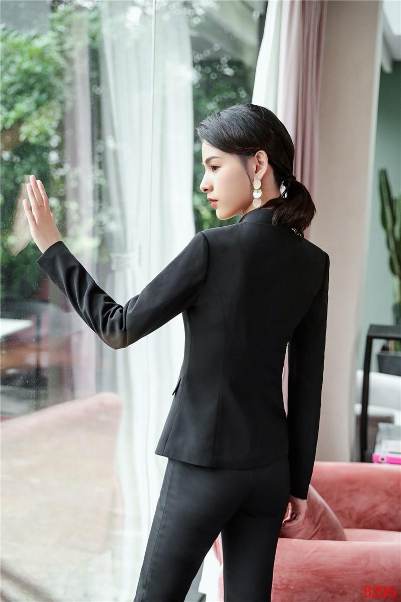 2018 Costumes Vêtements Veste Style Pantalon Mode Bureau Blazer Noir Nouveau Femmes Travail D'affaires Dames De Et Formelle Ensemble nOzxzT