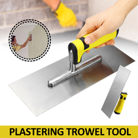 Professional 11inch Stainless Steel Plasterers Plastering Trowel with Comfort Handle Putty Knife Construction Hand Tools