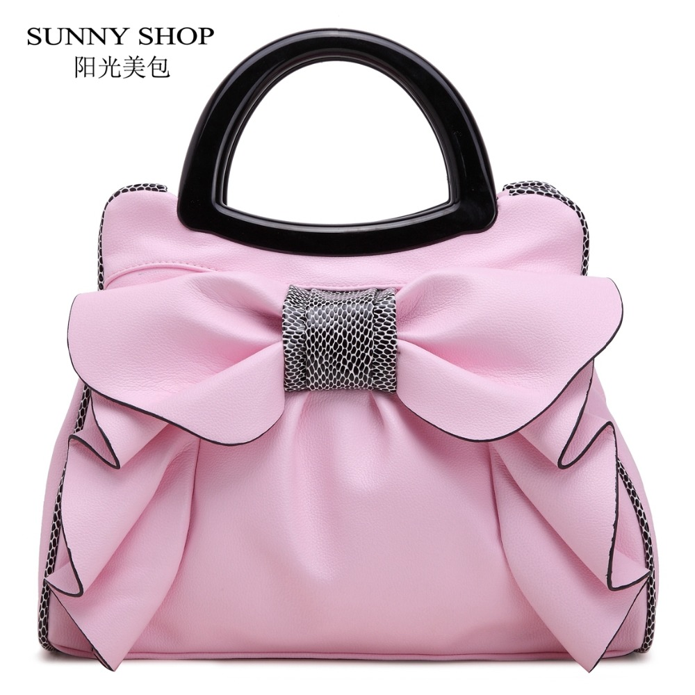 Sunny shop américa y rusia estilo bowknot bolso de las mujeres de alta calidad b