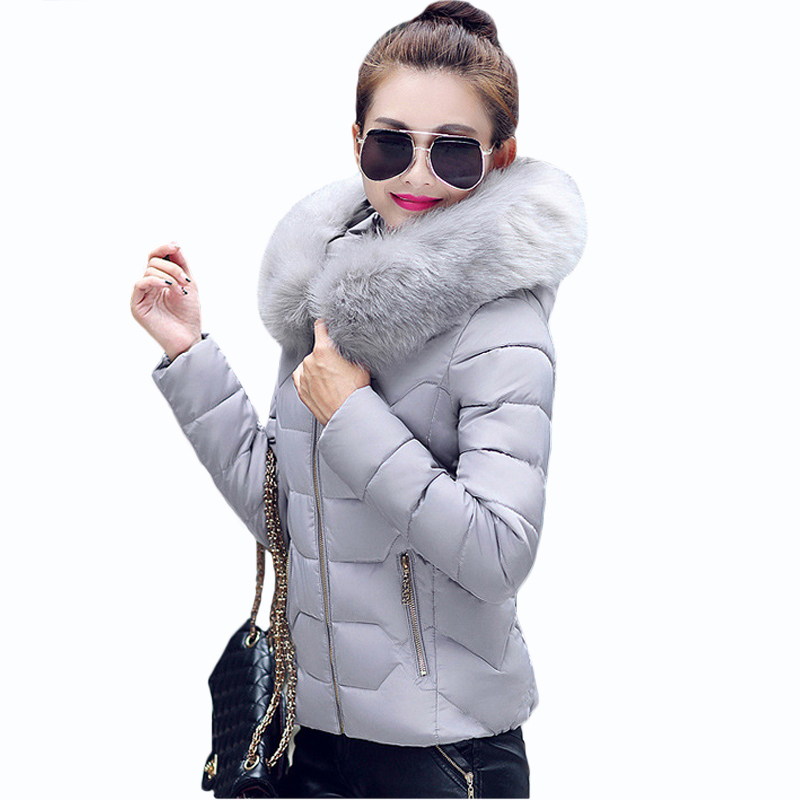 Подробнее о Womens Winter short couterwear Female long sleeve Parkas Thicken Warm Windproof Faux Fur Collar Hooded Ladies down cotton Jacket 2016 winter new male camo faux fur collar hooded outwear parkas men big size windproof warm thicken long down jacket overcoat