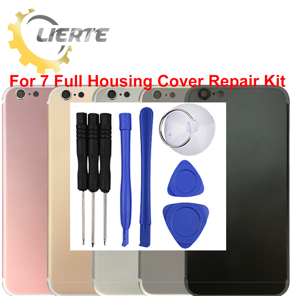 Torx Screwdriver Repair For IPhone 7 7G Frame Bezel Chassis Back Full Housing Battery Door Rear Cover Body With Flex Cable ia73 original chassis middle housing frame for iphone 4 silver