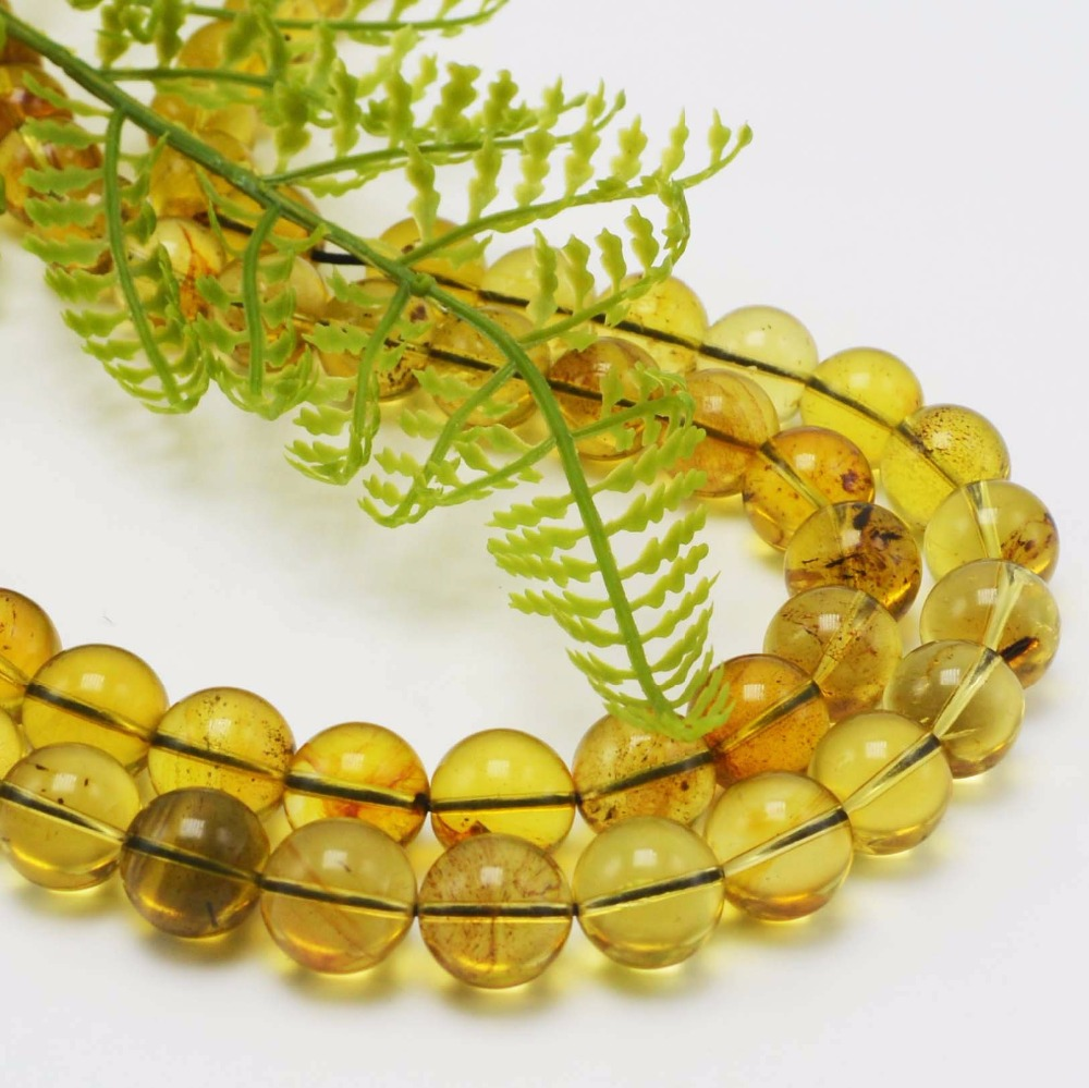 Natural Good Quality Mexico Amber Loose Round Beads 10mm 20 Beads 40 Beads