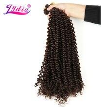 """Lydia Freetress Sintético 28 """"3 Pçs/lote Pura Cor 4 # Extensão Do Cabelo Trança De Crochê Boêmio Trança de Crochê Gancho da Trava Volume do cabelo"""