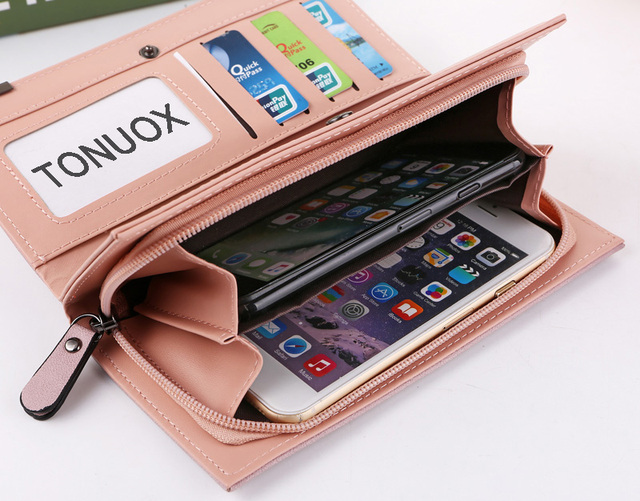 Women Wallets Fashion Lady Wristlet Handbags Long Money Bag Zipper Coin Purse Cards ID Holder Clutch Woman Wallet Purse Notecase 6