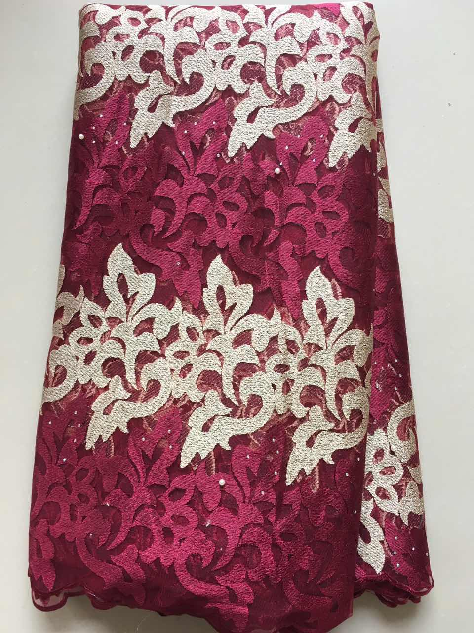 2017 Latest French Nigerian Laces Fabrics High Quality