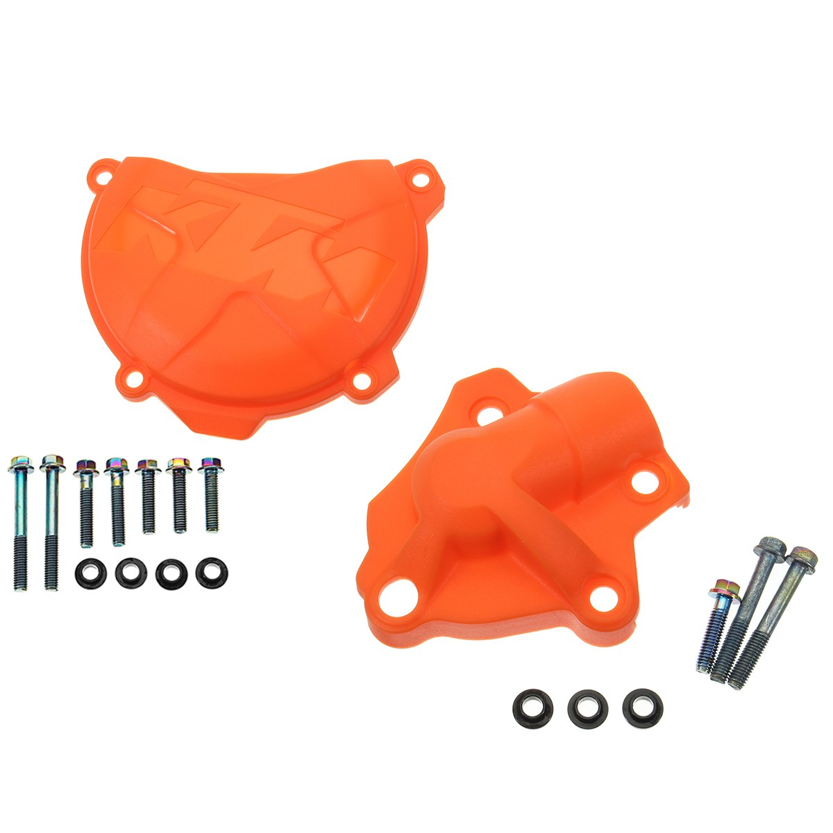 Motorcycle Clutch Cover Water Pump Cover Protector For KTM 250SX-F 2012-2015/350SX-F 2013-2014 250XC-F/250XCF-W 2014-2015 new cnc billet clutch cover outside for ktm 250 xcf w 2008 2009 2010 2011 2012 2013