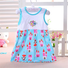 1pc low price summer girls dresses style infantile Dress hot sale baby girl clothes Summer flower style dress(China)