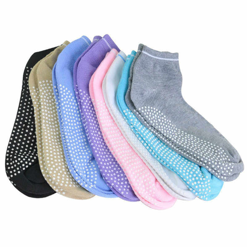 1 Pair Silicone Dots Bottom Non Slip Sport Socks Solid Color Women Ankle Socks for Yoga and Pilatesf Low Price