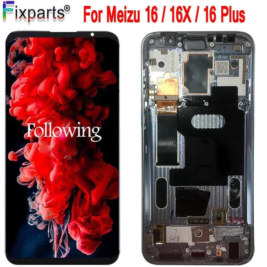 Original nouveau pour Meizu 16 Plus LCD Meizu 16th LCD écran tactile numériseur assemblée remplacement Meizu 16X LCD avec cadre