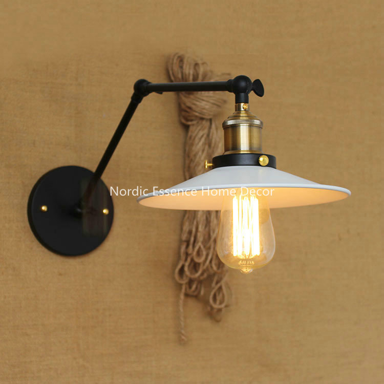 ФОТО American Country Vintage Style Nordic Retro Wall Light Industrial Rh Loft Double Scalable Lamp,hotel Restaurant Bar Decoration