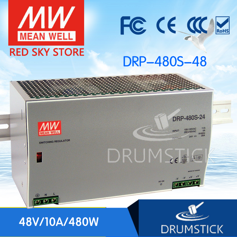 hot-selling MEAN WELL DRP-480S-48 48V 10A meanwell DRP-480S 48V 480W Single Output Industrial DIN RAIL Power Supply lacywear s 2 drp