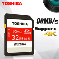 Toshiba SD Memory Card UHS U3 128Gb 90MBs 600x 32GB SDHC Card SD 64GB SDXC Card