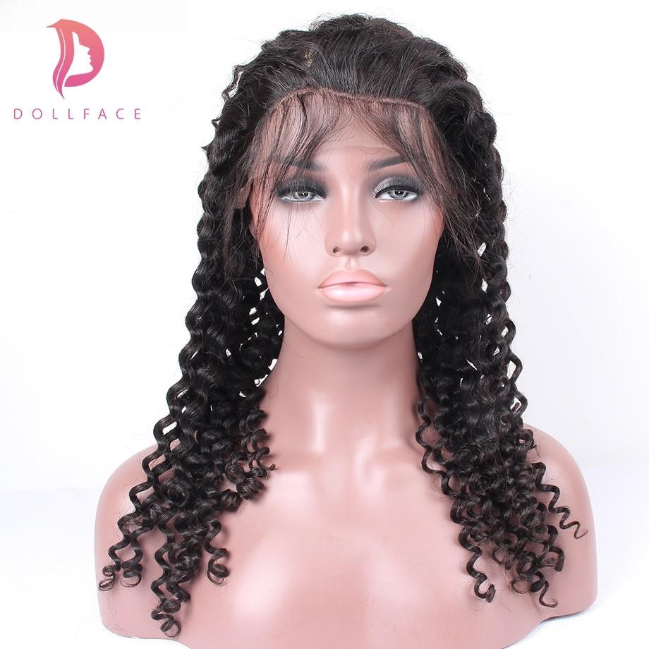 Lace Perücken Praktisch Dollface Spitze Perücke Für Schwarze Frauen 180% Dichte Volle Spitze Menschliches Haar Perücken Mit Baby Haar Tiefe Welle Remy Haar Freies Verschiffen Haarverlängerung Und Perücken