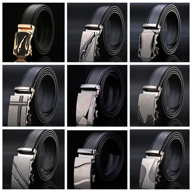 48e6ca441a Hot sale mens belts for men brand Genuine Leather Cowskin Belt Automatic  buckle business trouser strap pant ceinture homme AB3