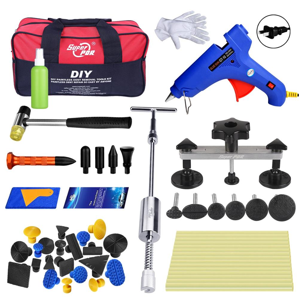 Super PDR Tools Kit For Car with PDR Big Bag 2in1 Dent Puller Bridge Paintless Dent Repair Tool Auto Hand Tools Set Dent Repair 147 pcs portable professional watch repair tool kit set solid hammer spring bar remover watchmaker tools watch adjustment