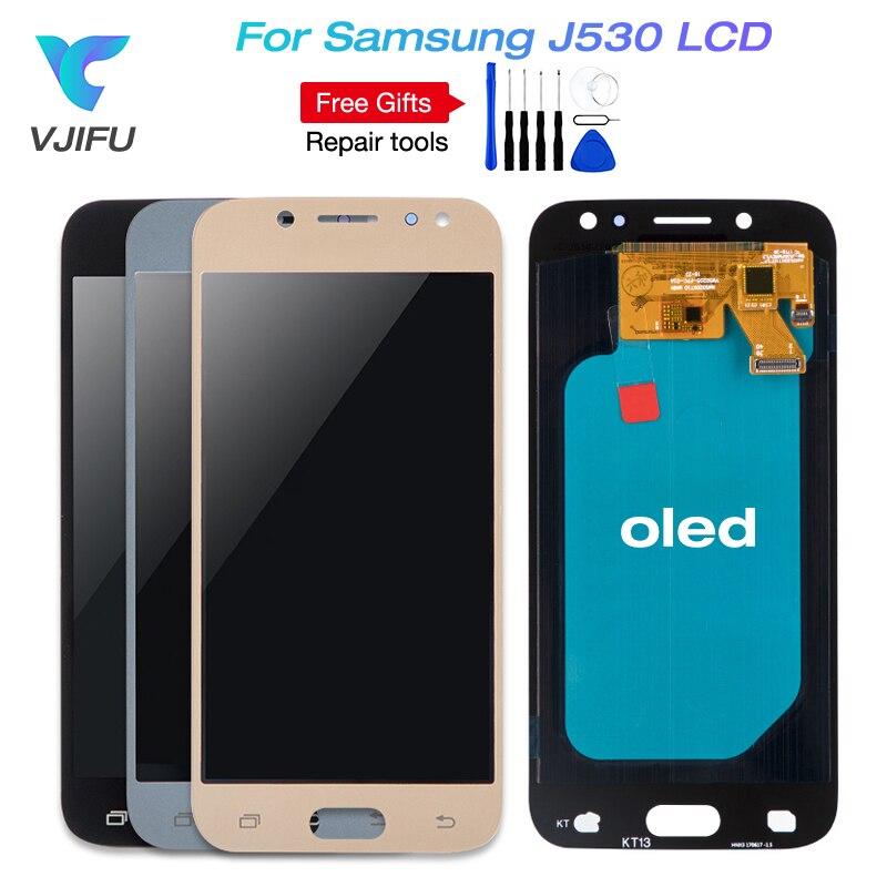 AMOLED J530F LCD Pour Samsung Galaxy J5 2017 Pro J530F/DS J530Y/DS Tactile Digitizer Écran D'affichage De Remplacement pour J5 (2017) duos