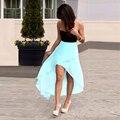 Honey qiao verde hortelã vestidos de baile curtos para adolescentes para roubar Corações 2016 Alta Baixa Chiffon Strapless Baratos de Festa Formal vestidos