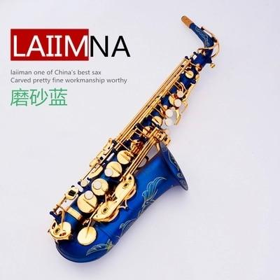 France Lehmann Alto Sax E flat Sax matte blue Saxophone  original wholesale price of shipping