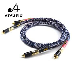 Image 2 - Ataudioワンペアオルトフォン8n ofc hifi rcaケーブル純銅intecconnectオーディオケーブルで炭素繊維rcaプラグ