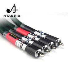 ATAUDIO аудиокабель HiFi Rca 2328 Здравствуйте-end посеребренный 2rca штекер 2rca штекер CD усилитель Межблочный кабель Rca