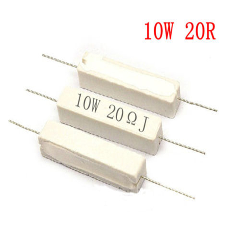 2pcs 5 watts 33 ohm Ceramic Cement Power Resistors 5/%